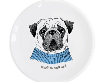 """Plate """"Pug"""""""