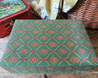 Vintage French Fabric Covered Provencal Box