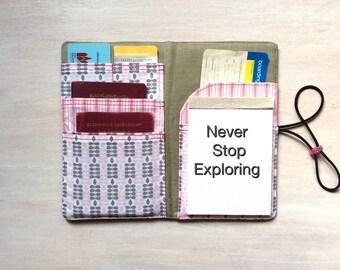 Passport cover, passport holder, travel organizer, passport case