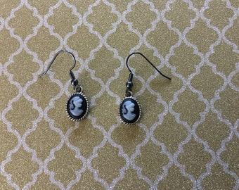 Lady figure earrings