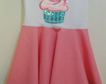 Size 4 S/S Sequined Cupcake Dress