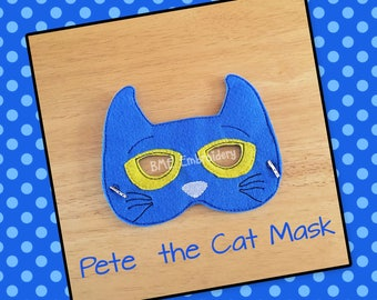 Pete the Cat Inspired Felt Mask- Child's Dress Up/Imaginary Play- Birthday Party Favor-Photo Shoot-Pretend Play-Theme Party-Felt Mask
