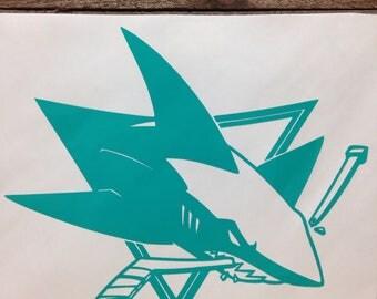 San Jose Sharks Hockey Vinyl Decal