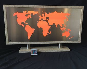 "LED world map ""OSB"" * reduced *."