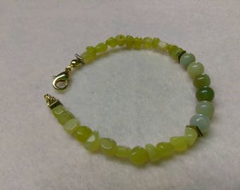 Amazonite Summer Jade and Hematite Beaded bracelet