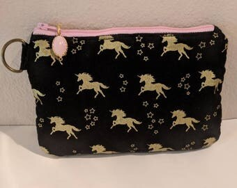 Unicorn Insulated Pouch with Waterproof Lining,Insulated Bag,Waterproof Bag,Diabetes Bag,Makeup Bag,Kids Bag,Charitable Gift,Clutch,Wet Bag