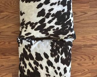 Faux Cow Hide Pillows