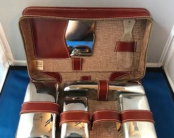 Vintage Edwardian Gentleman's Travel and Grooming Kit Leather