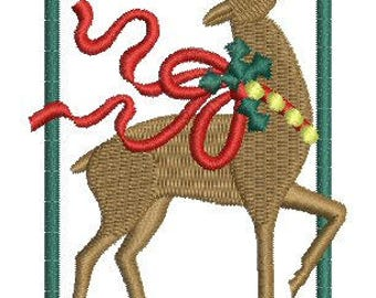 NeedleUp - Reindeer embroidery design