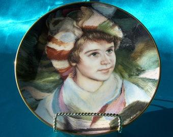 Portrait of Innocence decorative plate by Royal Daulton.