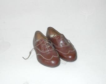 genuine leather children shoes/1920/30s/Art Deco/Vintage/Italy