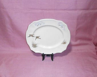 """Alfred Meakin """"Wildfowl"""", meat platter/1950s / China/British"""
