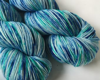 Hand dyed yarn - Caribbean Crash - Moor - 100% superwash merino wool - fingering weight sock yarn
