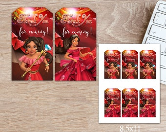 ON SALE 30%Elena of Avalor Gift Tag