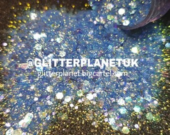 Candy Land Collection - Blueberry Fizz - Multi-mix Iridescent Hex Glitter, Nails, Hair, Craft, Festival mix Shimmer fine glitter mix