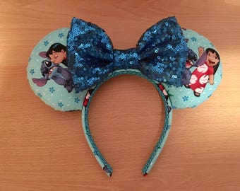 Lilo and Stitch inspired Minnie/Mickey/Mouse Ears