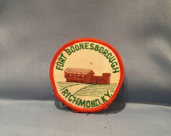 "fort boonesborough richmond kentucky 3"" vintage patch"