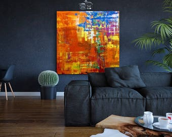 """36""""X36"""" acrylic abstract texture canvas painting"""
