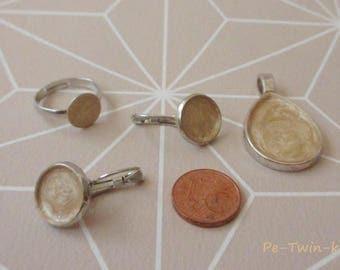 Jewelry set, ivory, silver