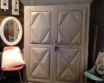 Wooden, two large cabinet door