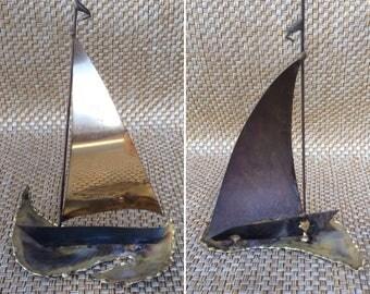 Thin Brass Sailboat