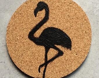 Flamingo Cork Coaster
