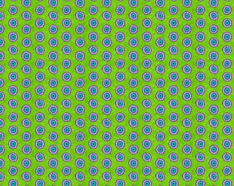 170131 Lime Dots, Night Bright by Wilmington Prints