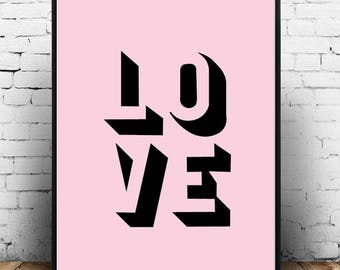 Love;Wall Hanging;Home Decor;Poster;Graphic Design;Art;Picture;Modern;Gift Idea;A4/A3/A5