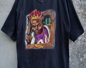 Vintage 90s Nike Sir Charles Barkley Rules The Court Phoenix Suns hip hop style Tshirt