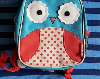 Skip Hop Toddler Owl Feeding Tube Backpack