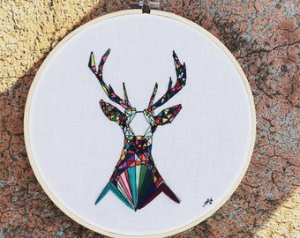 Contemporary Deer Embroidery