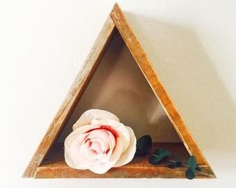 Reclaimed Wood Mountain Shelf / Crystal Shelf / Modern Shelving