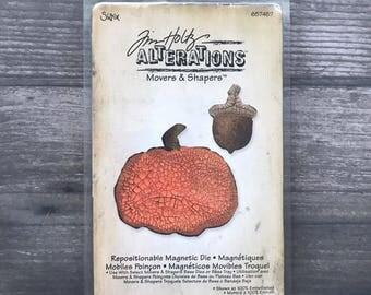 Tim Holtz Movers and Shapers Pumpkin Halloween Diecut