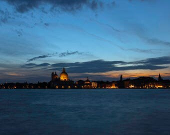 Venice at dusk  - original fine art photography print - travel photography - wall decor - nature and landscape photography