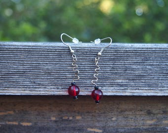 Quirky Squiggle Beaded Earrings