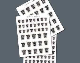 Trash Day Icons - Planner Stickers