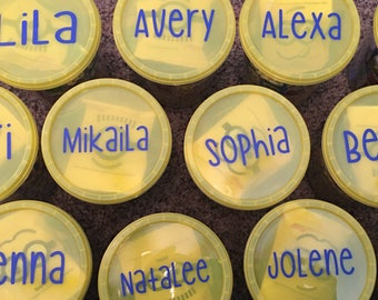 12 Snack Containers - After Game Treat Holders - 32 oz Personalized - Soccer - Softball - Dance - Cheer - Team Mom Ideas - Any Sport