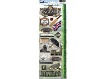 Scrapbook Stickers - Paper House Productions England Cardstock Travel & Vacation Embellishments