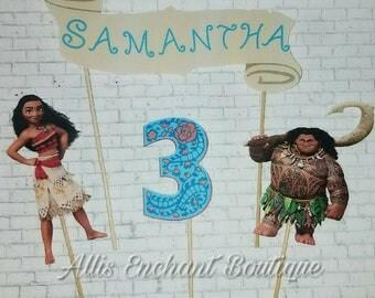 Moana cake topper, Moana Birthday Cake, Cupcake topper, Girl birthday cake ,Moana cake decorations
