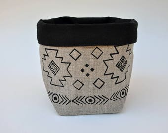 Navajo fabric storage basket