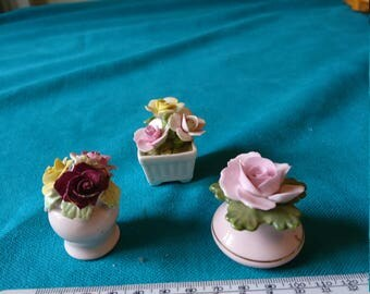 Three Assorted Pieces of Floral China