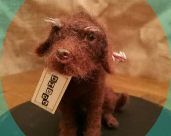 Made to Order Needle Felting Animal Sculpture, Pet Portrait (Ready in October)