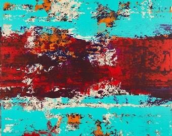 Vibrant Camo - Acrylic on Canvas Painting - Abstract Art