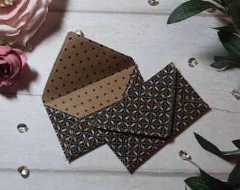 Black Geometric Fabric Envelope
