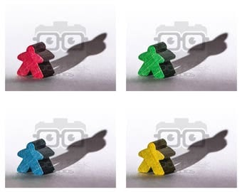 8x10 Photo Art Print: 4x4 - Meeple with a Shadow