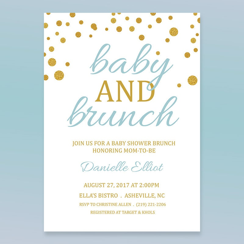 Baby and Brunch Invitation Print or Digital ? 5X7 or Facebook ...