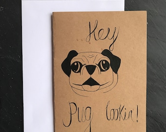Hey pug looking