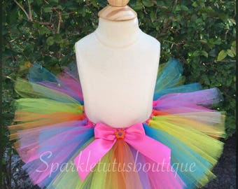 FAST Shipping, Colorful tutu,, Colorful Trolls inspired tutu, Cake smash tutu, Birthday tutu, photo shoot,
