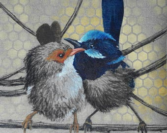 BIRDS.02. 40X40cm