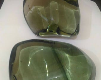 2pcs clear light green andara polished 5.5 kg
